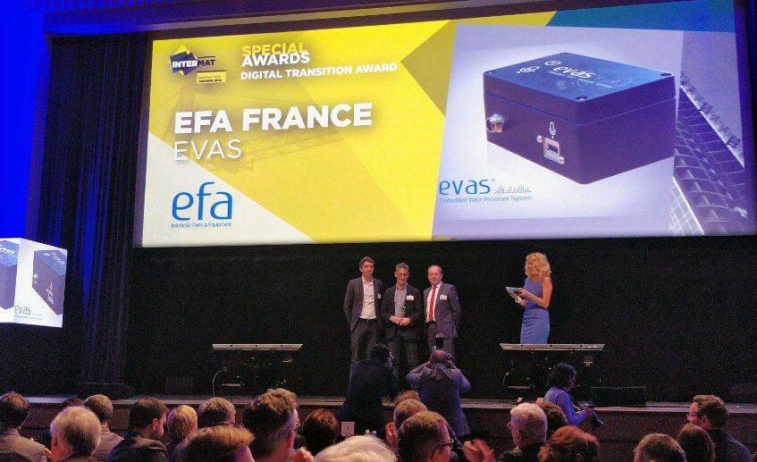 Prix Spéciale du jury pour EVAS aux Intermat Innovations Awards