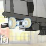 Tx1, essieu pont motorisé pour petits véhicules électriques