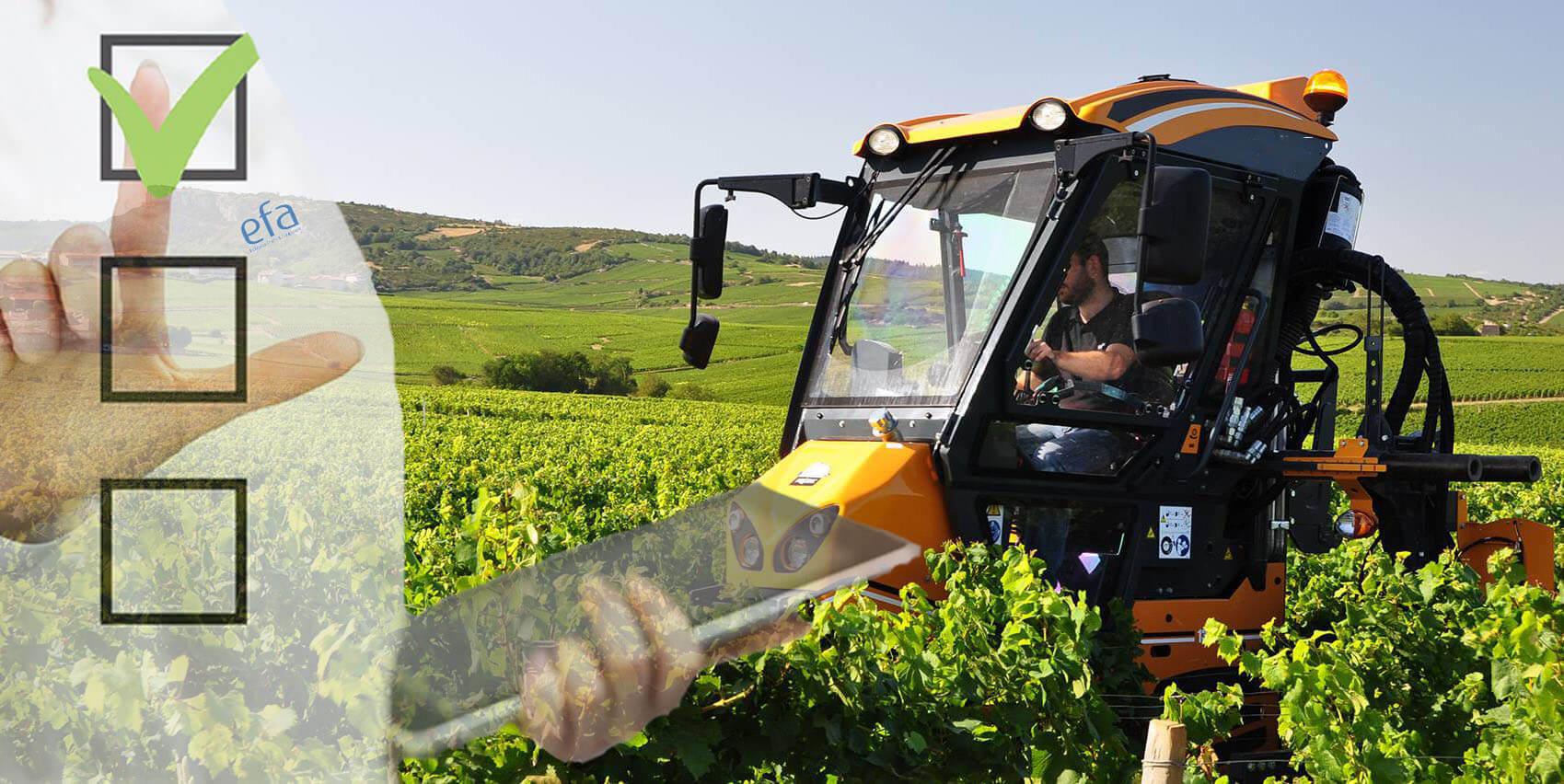 Phase de test véhicule agricole